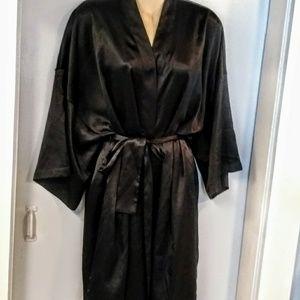 Victoria's Secret Silky black short robe